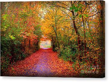 Red Leaf Canvas Print - Hope by Jacky Gerritsen