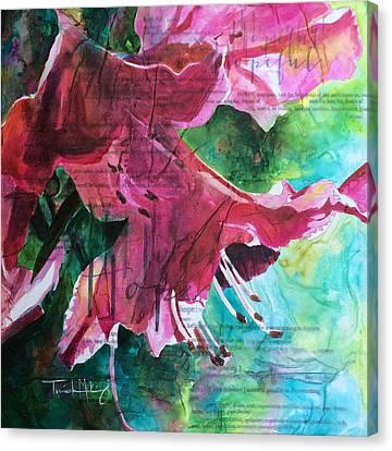 Hope - Pink Azalea Canvas Print by Trish McKinney