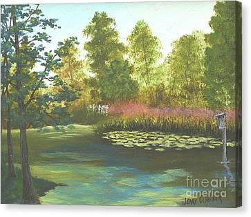 Hopeland Gardens Duck Pond Canvas Print
