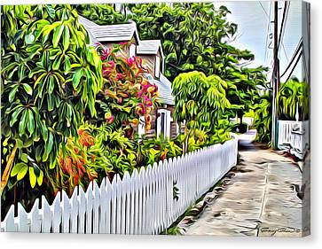 Hopetown Alley  Canvas Print by Anthony C Chen