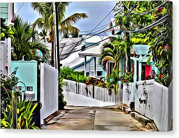 Hopetown Back Road Canvas Print by Anthony C Chen
