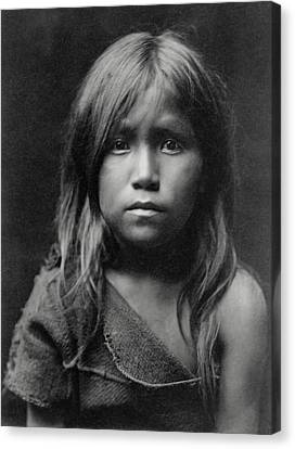 Hopi Indian Girl 1905 Canvas Print by Daniel Hagerman