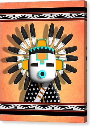 Hopi Kachina Mask Canvas Print