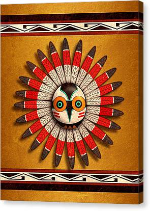 Hopi Owl Mask Canvas Print