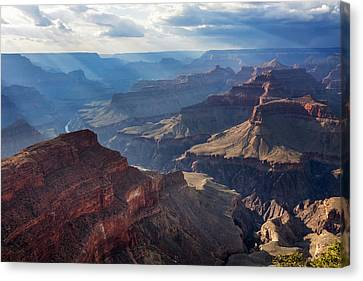 Canvas Print featuring the photograph Hopi Point Sun Rays by Beverly Parks