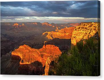 Canvas Print featuring the photograph Hopi Point Sunset 1 by Arthur Dodd