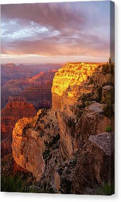 Canvas Print featuring the photograph Hopi Point Sunset 2 by Arthur Dodd