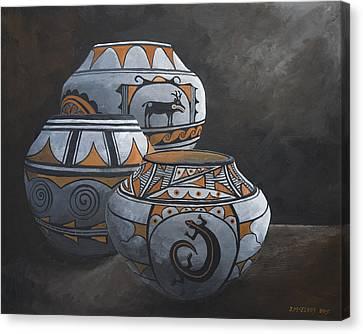 Hopi Pots Canvas Print