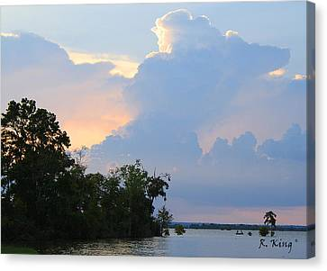 Canvas Print featuring the photograph Hoping For An Evening Shower by Roena King