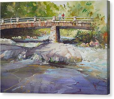 Hopper Bridge Creek Canvas Print