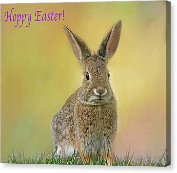 Canvas Print featuring the photograph Hoppy Easter  by Donna Kennedy
