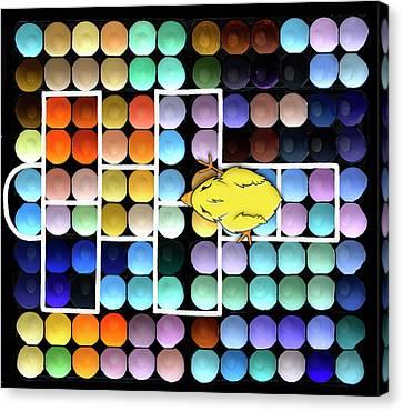 Hopscotch Charlie - Chick Hatchery Pop Art Canvas Print