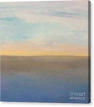 Canvas Print featuring the painting Horizon Aglow by Kim Nelson