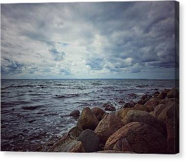 Canvas Print featuring the photograph Horizon by Karen Stahlros