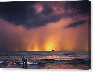 Horizon Canvas Print by Marji Lang