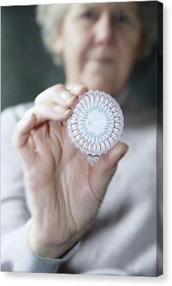 Hormone Replacement Therapy Pills Canvas Print by Cristina Pedrazzini