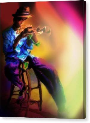 Horn Player 1 Canvas Print