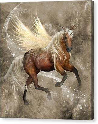 Horned Pegasus Canvas Print