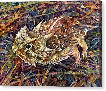 Frog Watercolor Canvas Print - Horned Toad by Hailey E Herrera