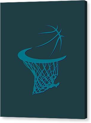 Charlotte Canvas Print - Hornets Basketball Hoop by Joe Hamilton