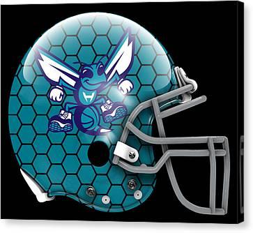 Charlotte Canvas Print - Hornets What If Its Football by Joe Hamilton