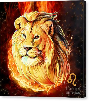 Horoscope Signs-leo Canvas Print by Bedros Awak