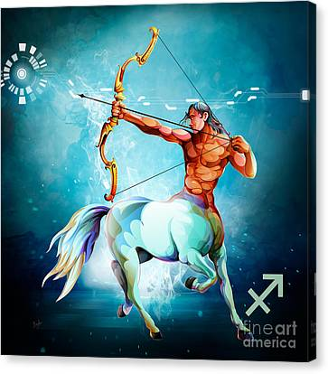 Horoscope Signs-sagittarius Canvas Print