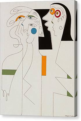Horror Canvas Print by Hildegarde Handsaeme