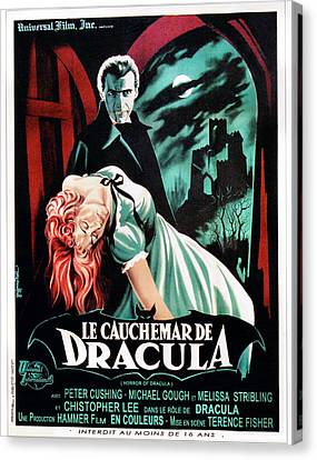 Horror Of Dracula Aka Le Cauchemar De Canvas Print by Everett