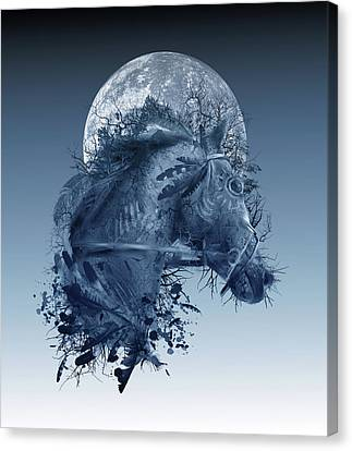 Oak Canvas Print - Horse 2 by Bekim Art