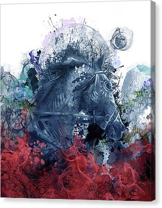Oak Canvas Print - Horse 3 by Bekim Art