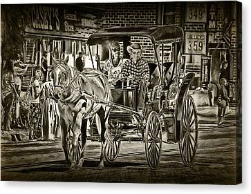 Horse And Buggy Canvas Print by Randall Nyhof