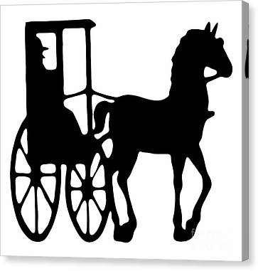Horse And Buggy Vector Canvas Print by Roger Witmer