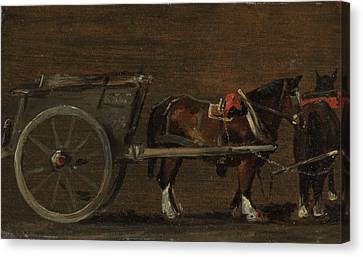Horse And Cart Canvas Print - Horse And Cart by MotionAge Designs