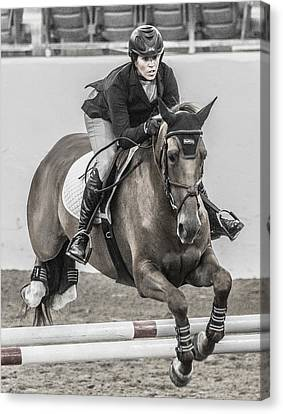 Braids Canvas Print - Horse And Rider by Betsy Knapp