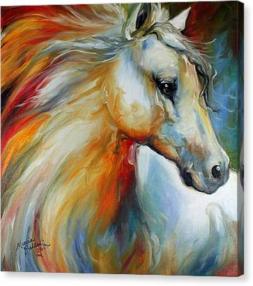 Abstract Equine Canvas Print - Horse Angel No 1 by Marcia Baldwin