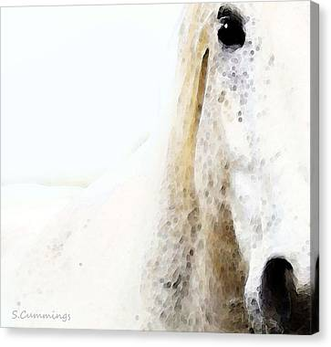 Horse Stable Canvas Print - Horse Art - Waiting For You  by Sharon Cummings