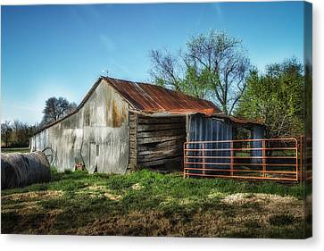 Horse Barn In Color Canvas Print by James Barber