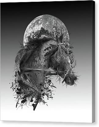 Oak Canvas Print - Horse by Bekim Art