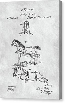 Horse Bridle Patent Canvas Print by Dan Sproul
