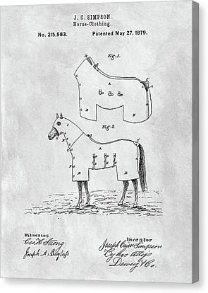 Horse Coat Patent Canvas Print by Dan Sproul