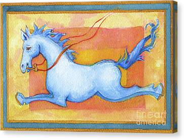 Horse Detail From H Medieval Alphabet Print Canvas Print