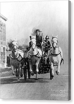 Horse-drawn Fire Truck, C. 1890s-1900s Canvas Print by H. Armstrong Roberts/ClassicStock