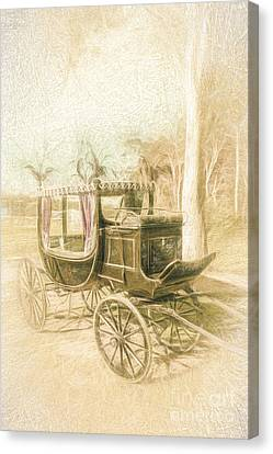 Horse Drawn Funeral Cart  Canvas Print