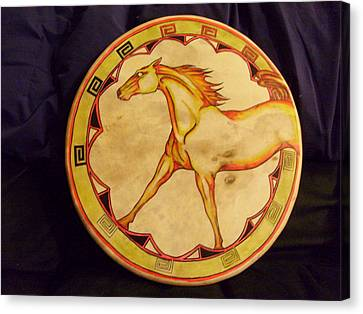 Horse Drum Canvas Print by Angelina Benson