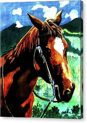 Horse Canvas Print by Farah Faizal