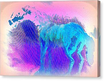 There Are Horses In Heaven Too  Canvas Print by Hilde Widerberg
