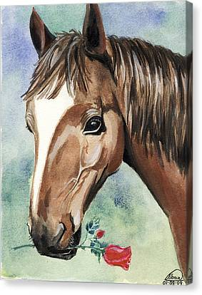 Horse In Love Canvas Print