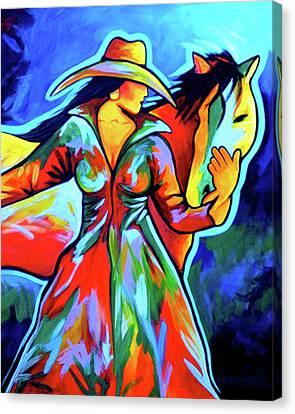 Horse Love Canvas Print by Lance Headlee