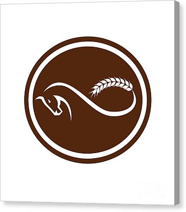 Horse Malt Tail Mobius Strip Oval Retro Canvas Print by Aloysius Patrimonio